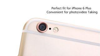 IPhone 6/6s 6splus protruding camera metal lens protector  and how to apply it