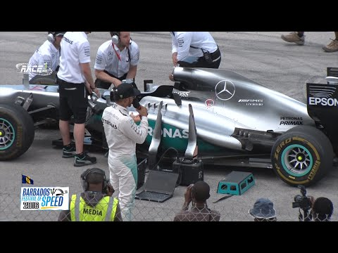 The Barbados Festival of Speed 2016 with Lewis Hamilton