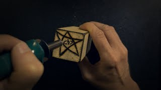 Making Wood Blocks of the Elder Gods | Wood Burning | ASMR