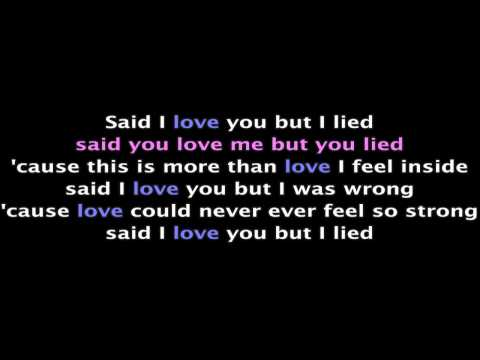 Michael Bolton Ft. Agnes Monica - Said I Love You But I Lied (with Lyrics hd) video