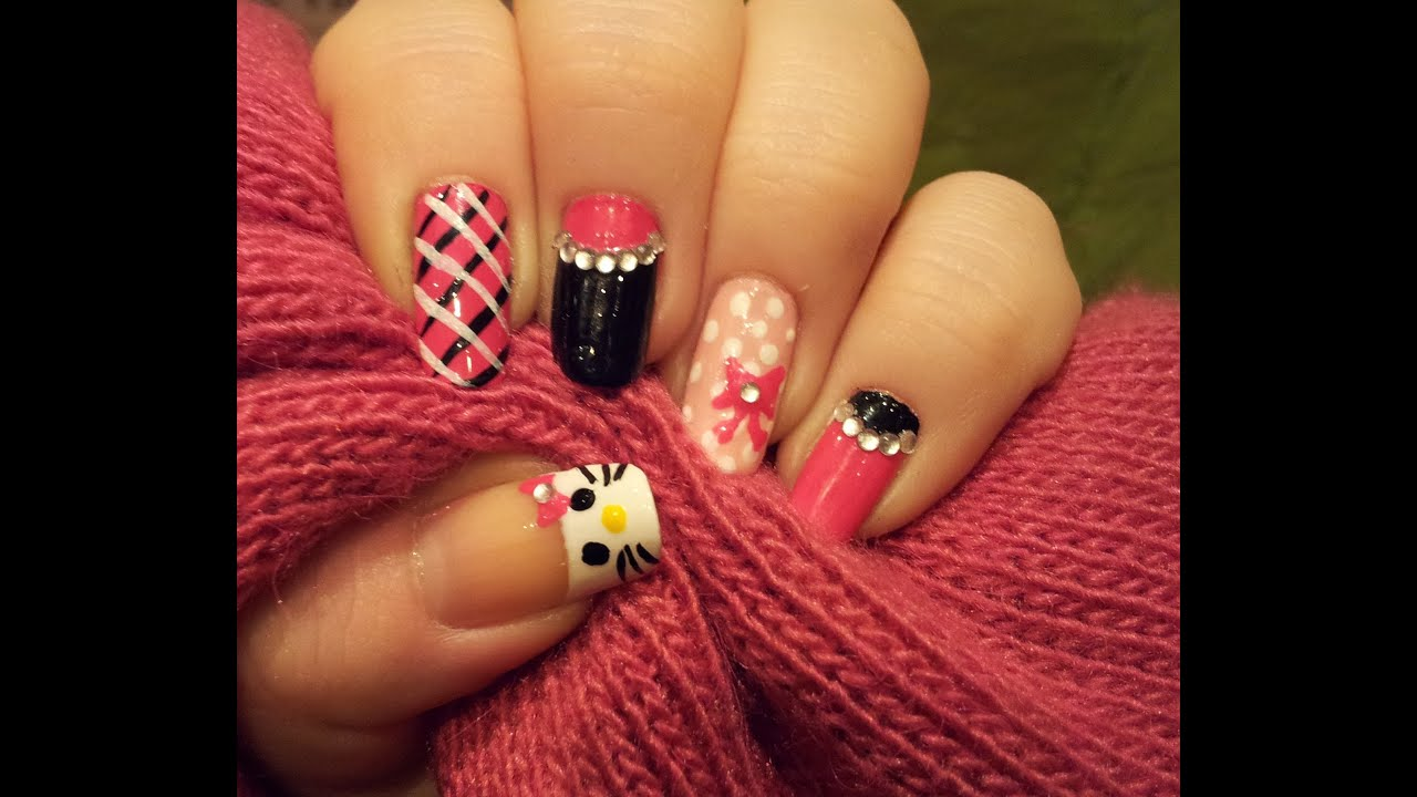 Bling Hello Kitty Mix 'n' Match Nails