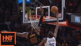 LeBron James Blocks KD / Cavaliers vs GS Warriors