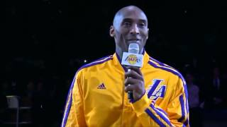 Kobe Bryant Emotional Speech On Jerry Buss
