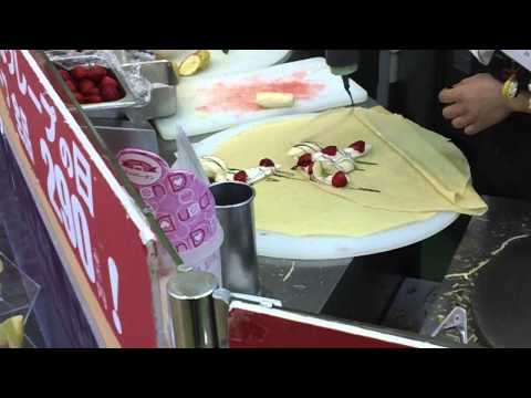 Crepes in Japan!
