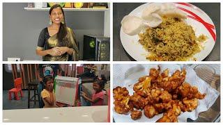 Afternoon routine vlog/Quick 15 mins lunch/Mushroom pepper rice/Crispy cauliflower fry/garden tour