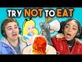 TRY NOT TO EAT CHALLENGE! #2 | Teens & College Kids Vs. Food