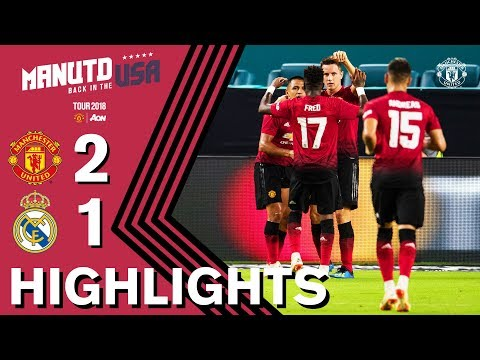 HIGHLIGHTS | Manchester United 2-1 Real Madrid | Tour 2018 presented by Aon thumbnail