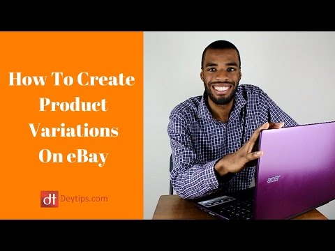 How To Do A Variation Listing On eBay | Variation Listings Tutorial