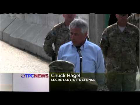 U.S. Secretary of Defense Hagel Awards Purple Hearts