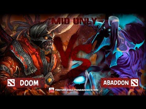 Doom VS Abaddon [Битва героев мидонли Dota2]