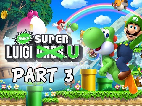 New Super Luigi U Gameplay Walkthrough - Part 3 Layer Cake Desert Let's Play Wii U