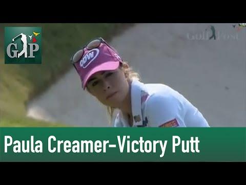 LPGA: HSBC Women's Championship - Paula Creamer Victory Putt vs. Azahara Munoz