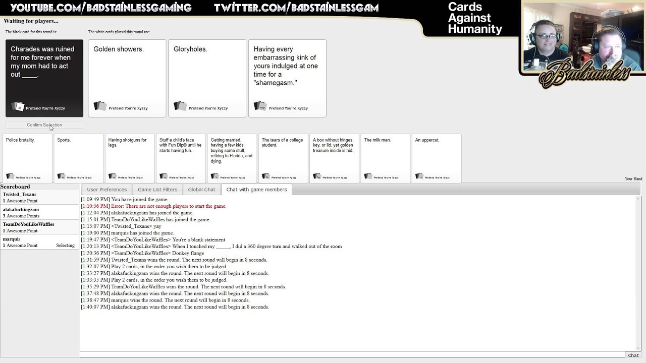 Cards Against Humanity Multiplayer Online Episode