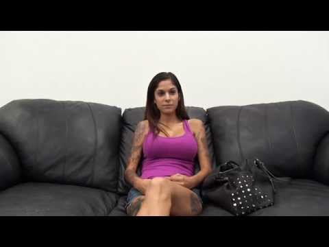 Sexy Big Boob Afton On Backroom Casting Couch - Interview video