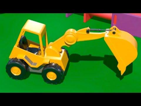 Cartoni Animati per Bambini – Costruire una scavatrice e imparare a contare!