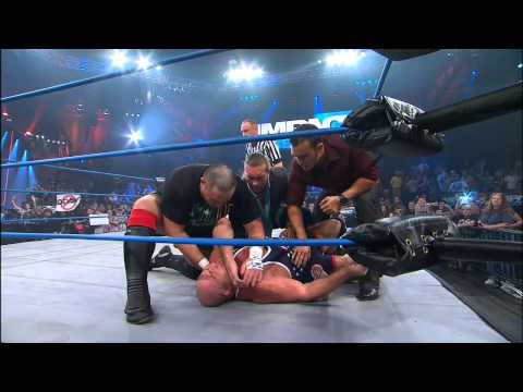 Kurt Angle Injured by The Aces and 8s - Jan 10, 2013
