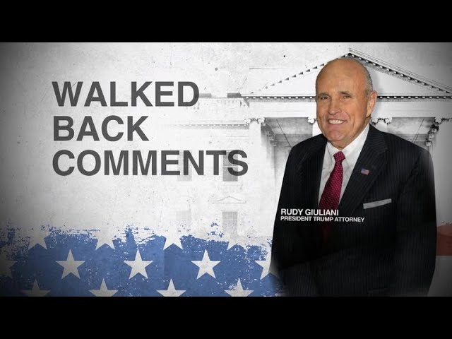 Giuliani walks back Stormy Daniels payment claims