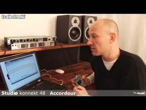 interface audio Studio Konnekt 48 de TC Electronic : accordeur guitare/basse intégré