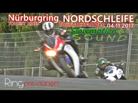 Nürburgring NORDSCHLEIFE Tourist Rides Green Hell Sound Slowmo Touristenfahrten 04.11.17 N1 no crash