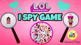 BIG LOL SURPRISE I SPY GAME / LIL OUTRAGEOUS LITTLES  BABY DOLLS MIX MATCH / TEST YOUR LOL IQ