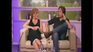 David Duchovny & Gillian Anderson - Tender moments of complicity.mp4