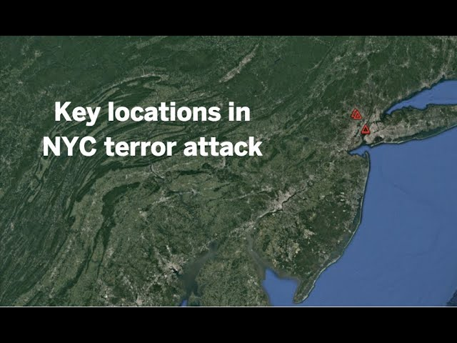An aerial tour of key locations in NYC terror attack
