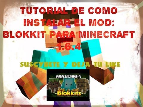 COMO INSTALAR BLOKKIT MINECRAFT 1.6.4 - descarga e instalacion