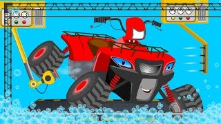 ATV Bike | car wash | childrens cartoon | street vehicles