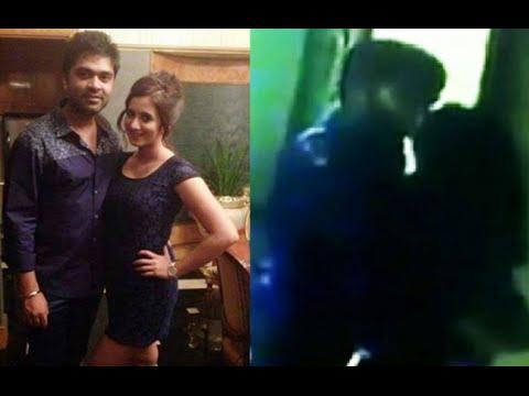 Actor Simbu Aka Silambarasan Kissing Actress Harshika(caught In Video Cam) video
