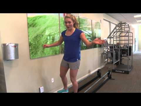 Westin Riverfront Ski Conditioning Tips from Mikaela Shiffrin: Slacklining