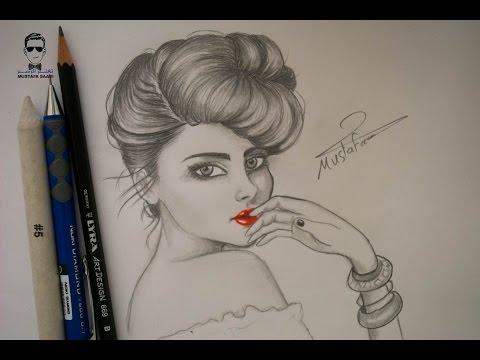 رسم وجه الفتاة بالرصاص بطريقة  احترافية How To Draw Girl