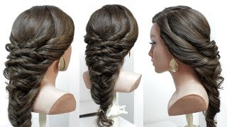 Beautiful Hairstyles for Wedding or Function. Easy Party Hairstyle