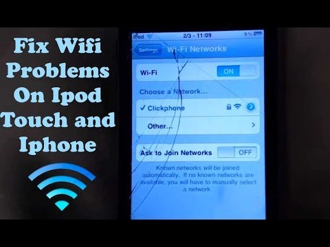 How To: Fix Wifi Problems On Ipod Touch & Iphone