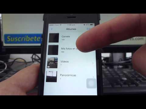 Cómo crear álbumes de fotografías en un iPhone 5S 5C 5 4 iOS 7 español Channeliphone