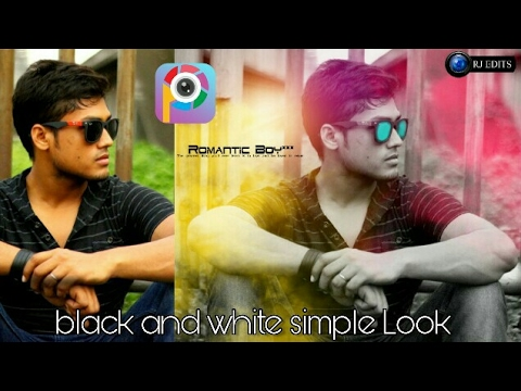 Black and white tutorial||simple look||new editing||new picsart editing||