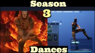 All New Fortnite Season 3 battle-pass Dances (Emotes) In real Life