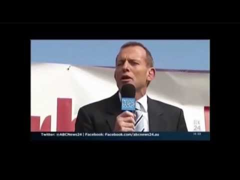Tony Abbott - Says One Thing, Does Something Else.