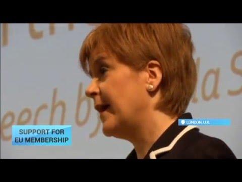 Support for EU Membership: Scotland's First Minister says she wants Britain to remain a member of EU