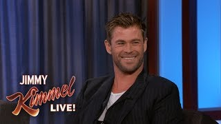 Chris Hemsworth Reveals Where He Keeps His Hammer