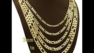 Unboxing: Figaro 20'' 18 Karat Real Gold Overlay Italian Necklace (1080p)!