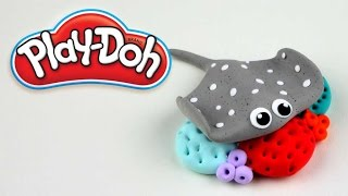 Play Doh How To Make Stingray On Corals Awesome 3D Figurine Creations 2016