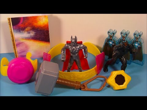 2011 THOR SET OF 8 BURGER KING KID'S MEAL MOVIE TOY'S VIDEO REVIEW