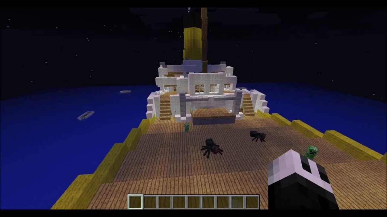 Minecraft Titanic Sinking Youtube