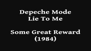 Depeche Mode Lie To Me Hd Audio Only