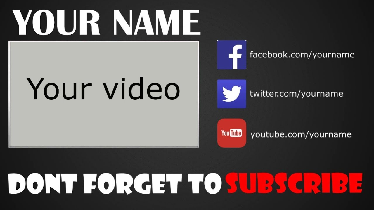 FREE Outro Template Sony Vegas Pro 11/12/13 (FREE DOWNLOAD) - YouTube