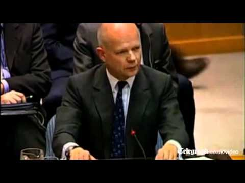 William Hague implores UN to pass Syria resolution during impassioned speech