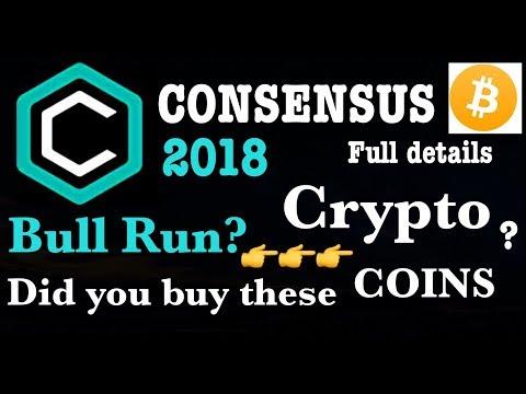 consensus 2018 crypto hindi Bitcoin Altcoin cryptocurrency bull run event latest news