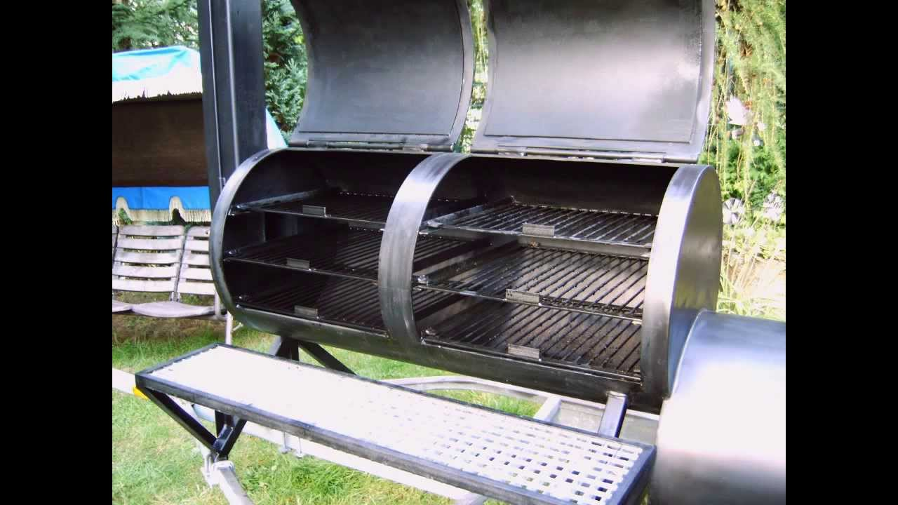 My Homemade Custom Barbecue Smoker Build Your Own Youtube