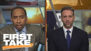 Stephen A. shuts down Max's argument about Bill Belichick and Tom Brady | First Take | ESPN