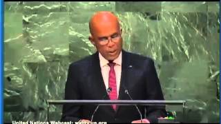 VIDEO: Discours Haiti President Martelly ONU (Nations Unies) 01 Oct 2015